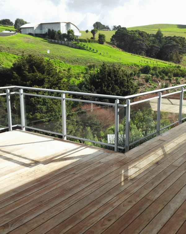 Framed Glass Balustrade with Split Rail