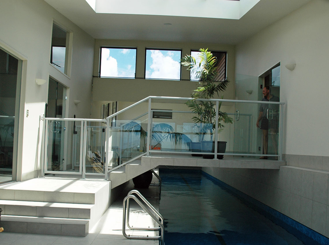 Indoor pool fence